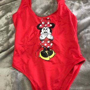 FOREVER 21 ONE PIECE MINNIE SWIMSUIT